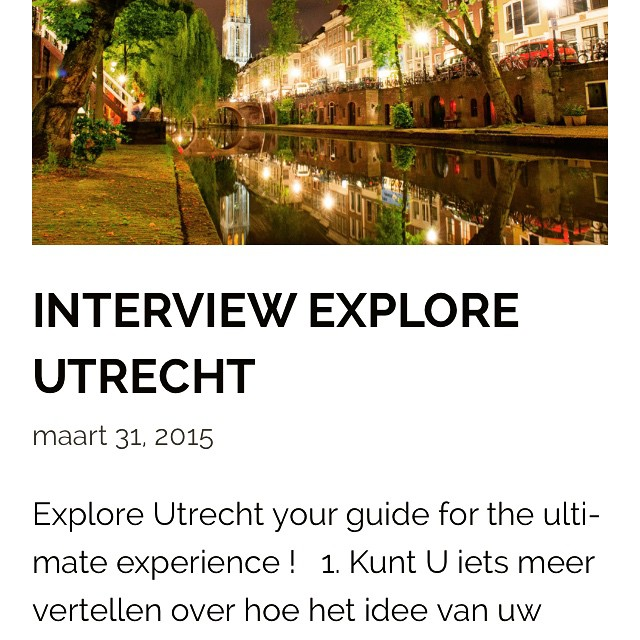 Interview Explore Utrecht